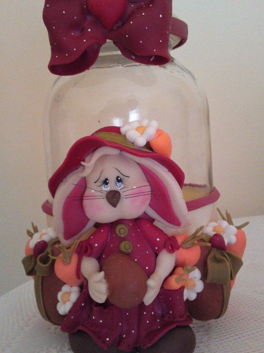polymer clay jar