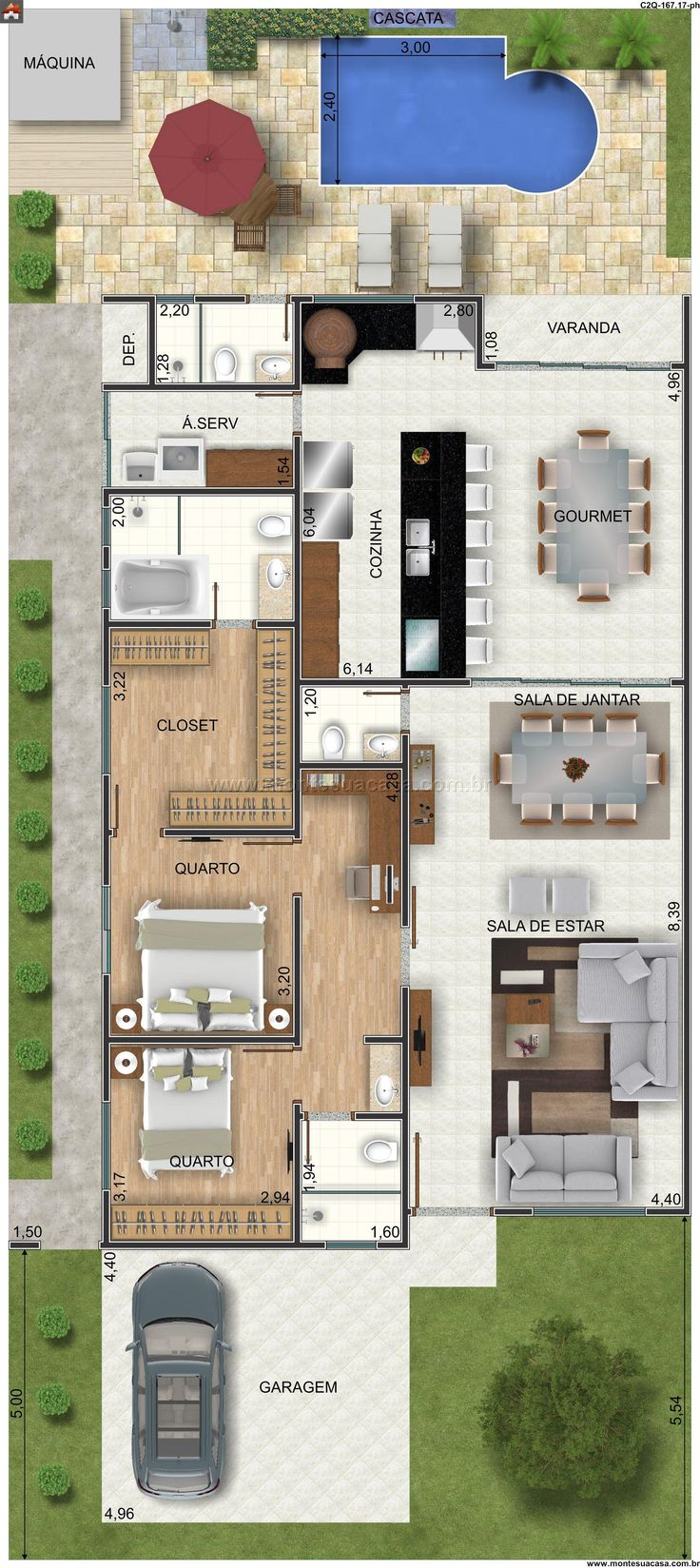 Casa 1 Quartos - 167.17m²