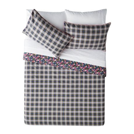 Happy Monday Queen Quilt Cover Set For Real Living  Check  #reallivingxfreedom #freedomaustralia