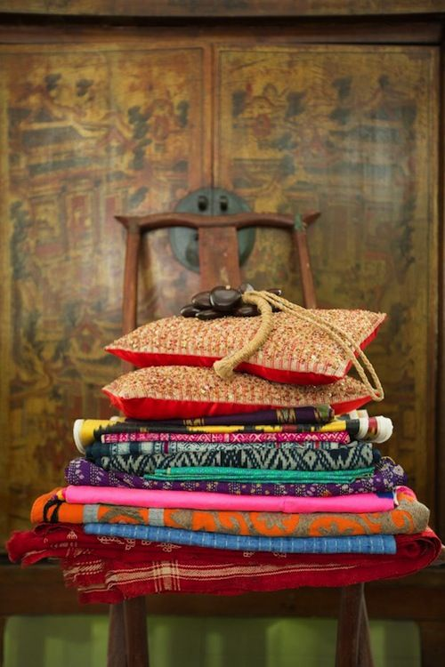 #Bohemian fabric, #textiles + home #decor in colorful patterns