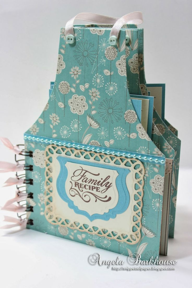 How to scrapbook a recipe book - Today I Have A Cute Apron Recipe Book Gift Idea To Share This Could Be Used For A House Warming Gift Or A Bridal S