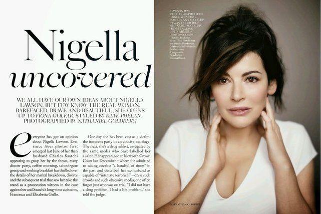 "Nigella bez makijażu: kulinarna bogini otwiera się na łamach ""Vogue"" | NaTemat.pl"