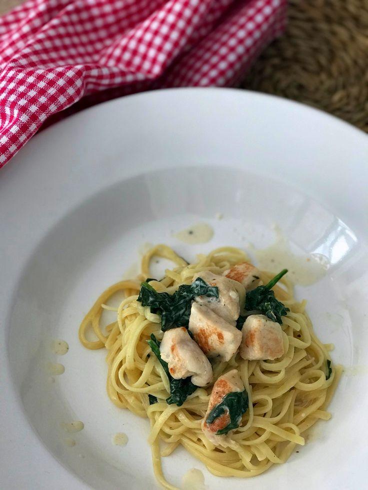 Pasta a la florentina (con pollo, espinacas, crema y parmesano) | CocotteMinute