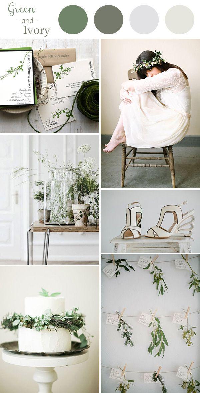 Si eres una chica tierna y dulce la tendencia del color Green and Ivory sin duda es para ti. ¡Frescura y elegancia! #Wedding #Boda #Ideas