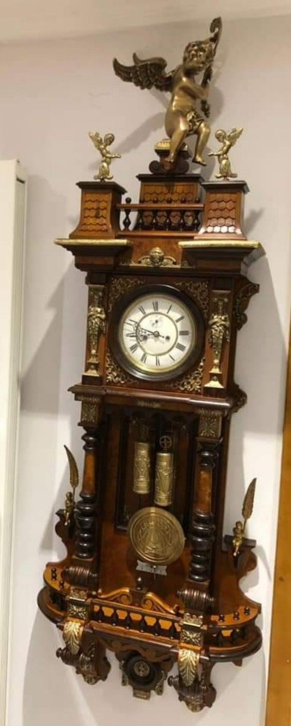 Antieke Gustav Becker Klok Antique Wall Clock Clock Wall Clock