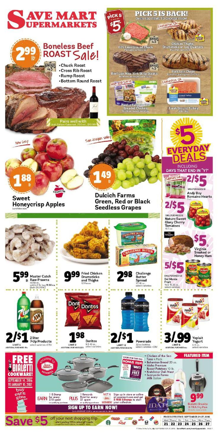 Save Mart Weekly ad September 21 - 27, 2016 - http://www.olcatalog.com/save-mart/save-mart-weekly-ad.html