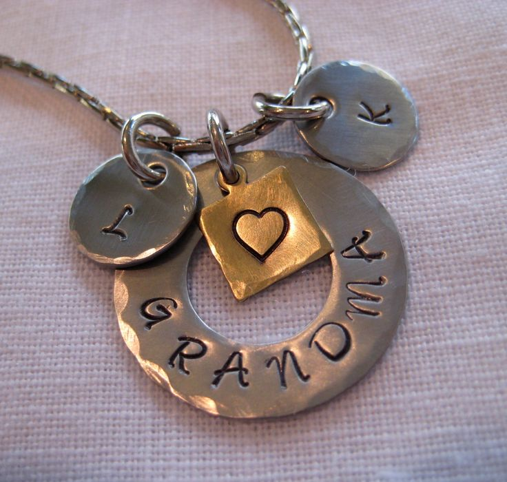 Hand Stamped Jewelry Grandma Necklace by concordeartisans on Etsy, $24.99