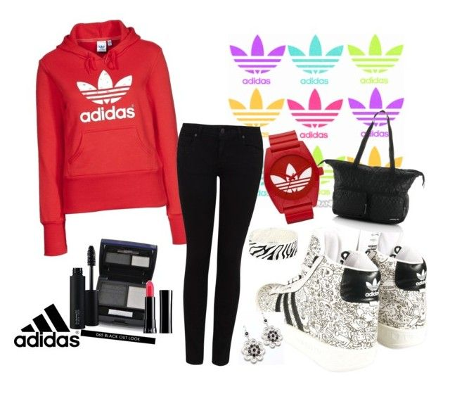 """Adidas Sport Outfit 2"" by nikii ❤ liked on Polyvore featuring adidas, adidas Originals, Paige Denim, Christian Dior, MAC Cosmetics, Sephora Collection, Adia Kibur, Style Tryst and outfit"