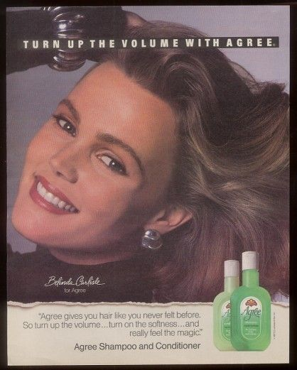 Agree Shampoo 1987 Ad Belinda Carlisle from the Go Go's http://media-cache5.pinterest.com/upload/133911788889577196_ROMHKGvf_f.jpg heartographer a 70 s n 80 s child retro fun n love