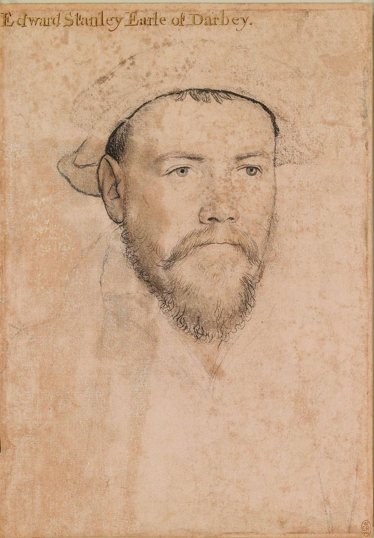 Hans Holbein the Younger (1497/8-1543) - Edward Stanley, 3rd Earl of Derby (1509-1572)