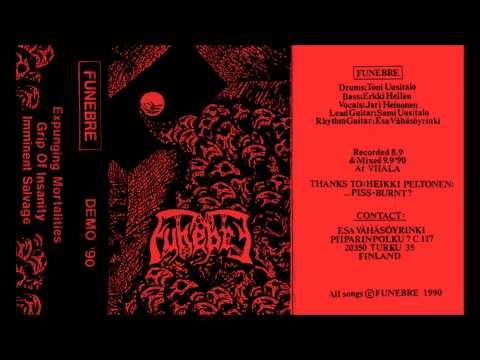 FUNEBRE - Demo '90 ◾ (demo 1990, Finnish death metal)