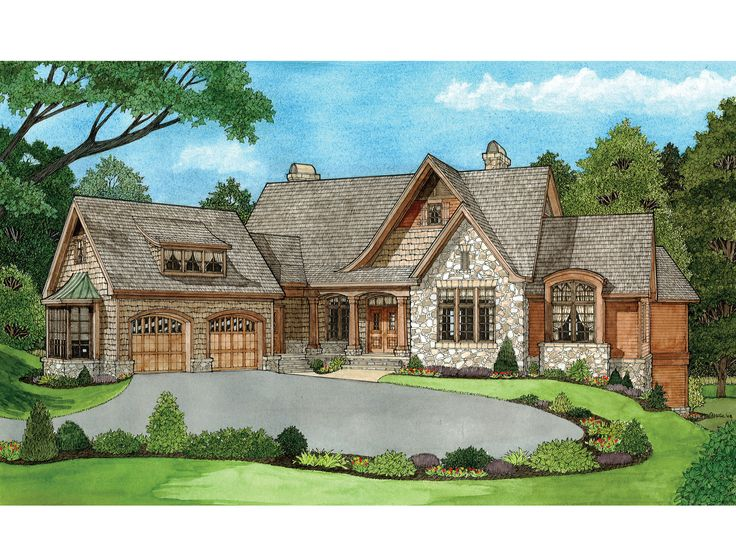 European Style House Plans Single Story Art Niches