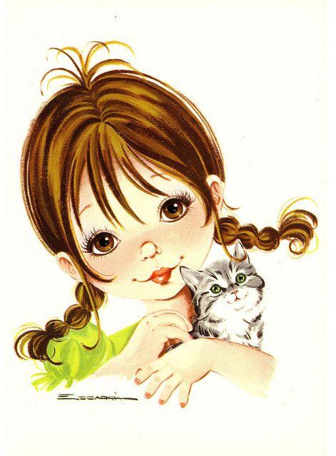 Beautiful big eyed girl открытки сайт http://www.flickr.com/photos/prettypostcards/sets/72157627152208829/with/5909699592/