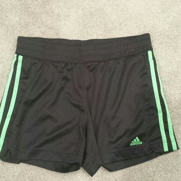 Adidas Shorts Unlined and no drawstring. Will work for running or working out at the gym over a pair of compression shorts. Gently worn and well cared for. Adidas Shorts