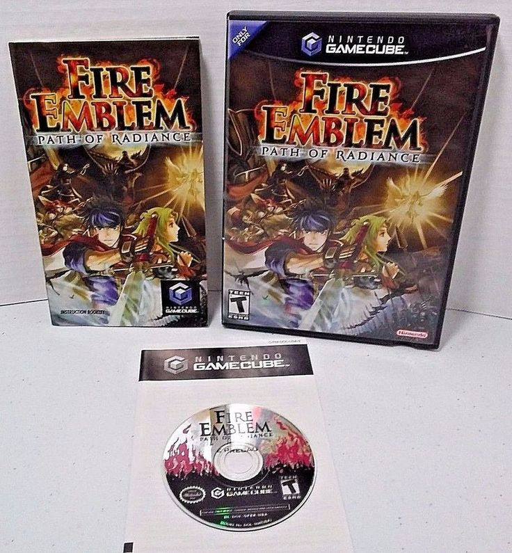 Fire Emblem: Path of Radiance Nintendo GameCube Wii game Complete lot CIB TESTED