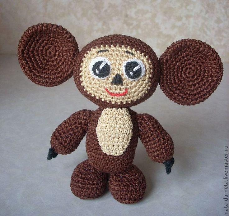 Чебурашка - чебурашка,вязаная игрушка,игрушка ручной работы,оригинальный подарок