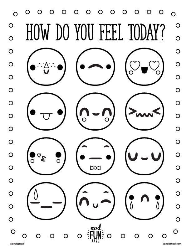 Beautiful Kimochi Feelings Worksheets Sketch Coloring Page