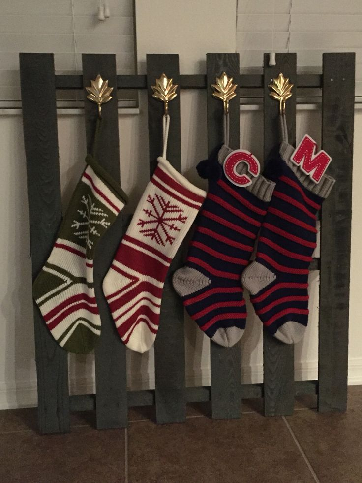 Our Stocking Holder Inspired By Pinterest And Made From