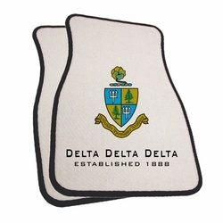 Car Mats...Really? Delta Delta Delta Car Mats SALE $48.95. - Greek Clothing and Merchandise - Greek Gear®.