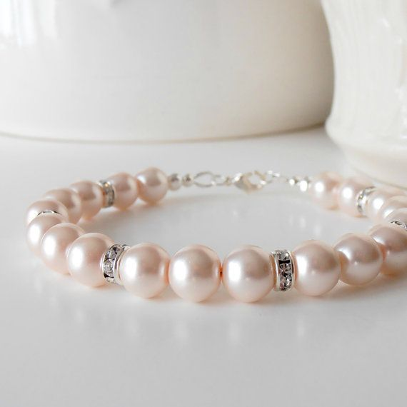 Diy Preppy cz https://www.etsy.com/listing/104398797/petal-pink-pearl-bracelet-in-silver