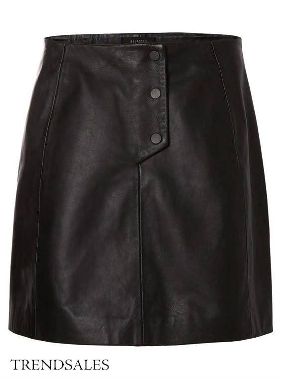 Selected Femme - Skindnederdel Nederdel