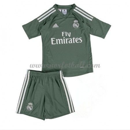 Billige Fotballdrakter Real Madrid Barn 2017-18 Keeper Hjemme Draktsett Fotball Kortermet
