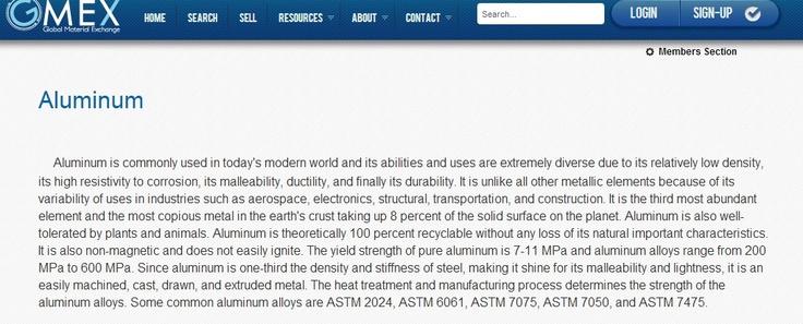 SEO aluminum