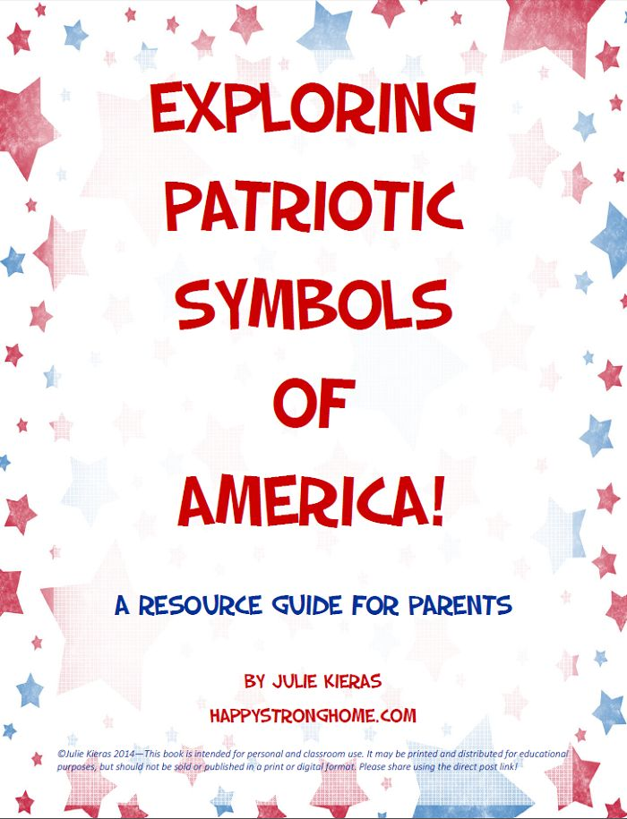 Exploring Patriotic Symbols of America free ebook! I needed an easy way to get some basic facts to my preschooler! #LaborDay #crafts