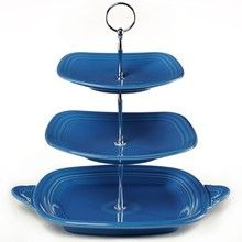 The Fiesta 3-Tier Server is perfect for entertaining year round. Currently it is available in 5 Fiestaware colors at http://DinnerwareUSA.com #fiestaware #fiesta3tierserver