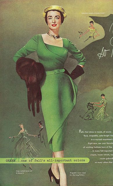 1950s fashion - pinterest.com/allerius - Women's Fashion #1950s #vintage #fashion #dress