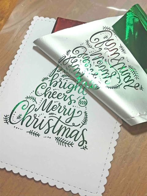 DIY foiled Christmas cards