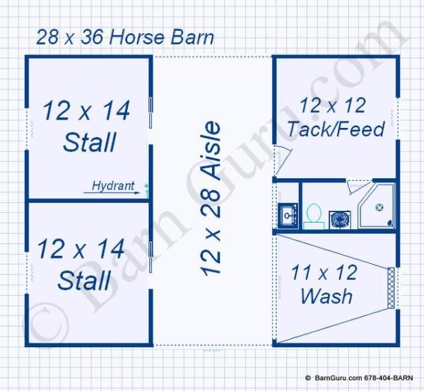 2 stall monitor style horse barn design floor plan horse barn design ideas - Horse Stall Design Ideas