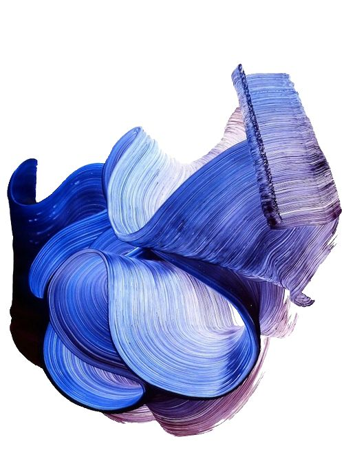 Fantastic ink blue brushstrokes span the width of this abstract art work. #abstractart Pinned by www.jessecroll.com