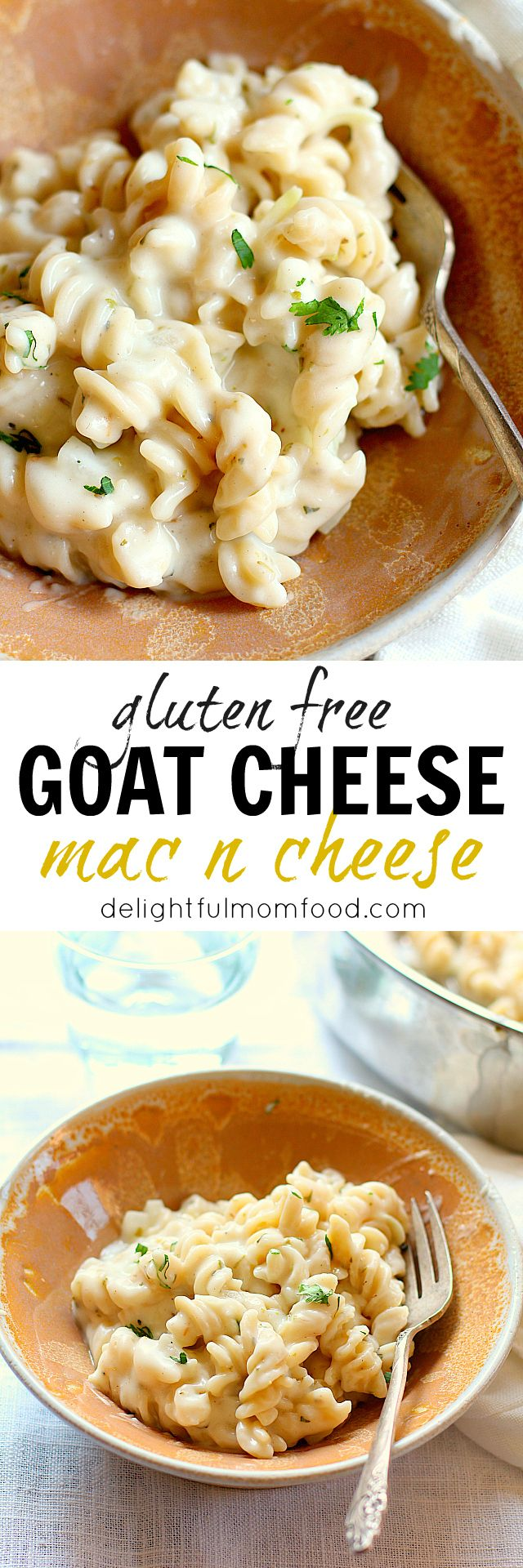 Dinner in less than 20 minutes! Creamy, gooey skillet mac and cheese turned up a notch with tasty goat cheese. Softer on the belly and bold comfort food all around!