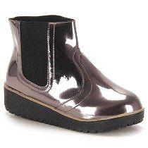 Ankle Boots Infantil Molekinha - 25 Ao 34 - Prata Velho