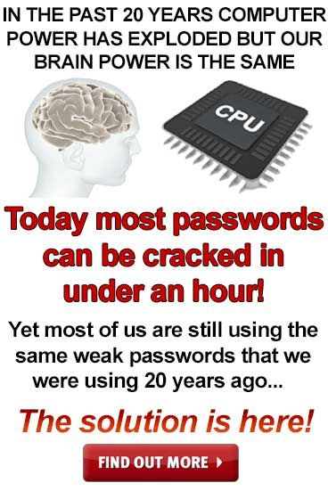 Finally there is a solution to end the pain of passwords enabling you to use unique super strong passwords on all your accounts that are easy to remember.