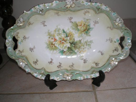 antique 1880 39 s rs s t reinhold schlegelmilch germany floral theme porcelain plate china dishes