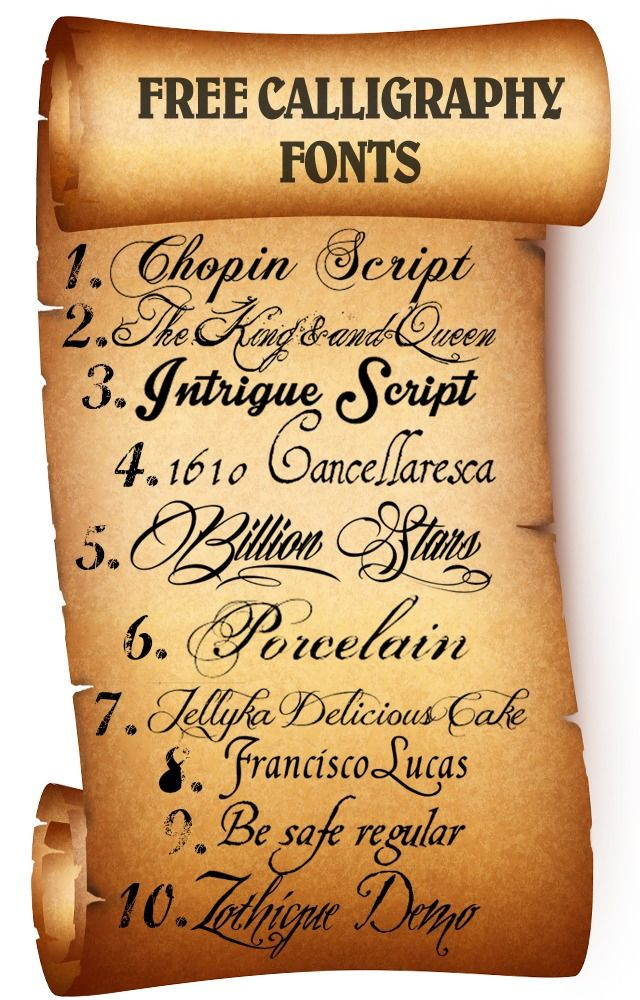 Best Free Calligraphy Fonts - Download and start creating :)
