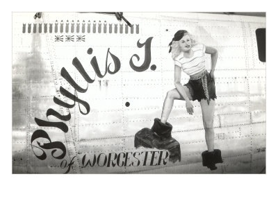 Phyllis J of Worchester [nose art]