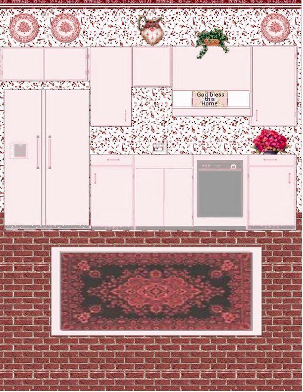 Dollhouse Kitchen Set Paper Model