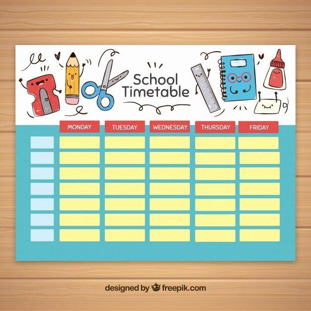 Cute Class Schedule Maker New Modelo De Horario Escolar Elementos