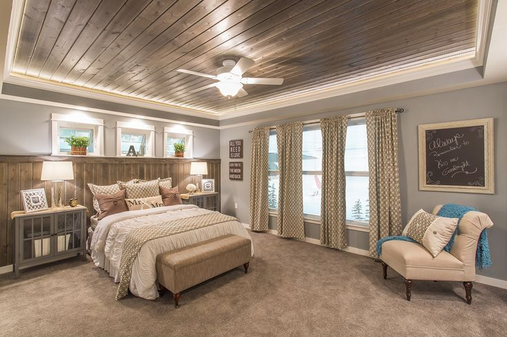 The Ultimate Rustic Master Suite With Wood Accents On The