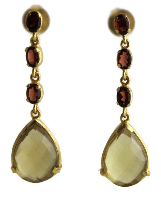 Alicia Garnet and Citrine  Earrings