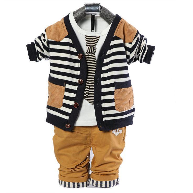 2015new spring autumn baby boy set  newborn boys set coat+t shirt+pants 3pcs toddler boys suits