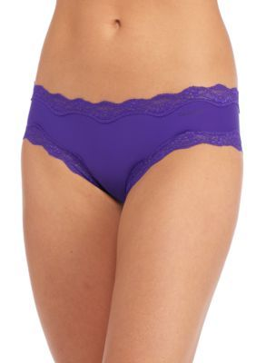 Calvin Klein Women's Hipster With Lace - Qd3538 - Polymer Blue - S