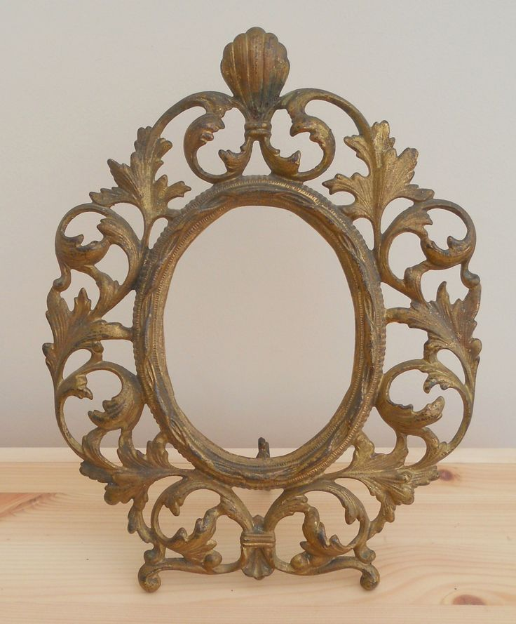 ANTIQUE VINTAGE BRASS ROCOCO STYLE FRAME ~ SOLD ON MY EBAY SITE LUBBYDOT1