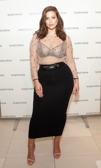 Ashley Graham mixed a little Alexander McQueen with her own style while she presented her Lingerie for Addition Elle at Nordstrom Oakbrook Center in Chicago.