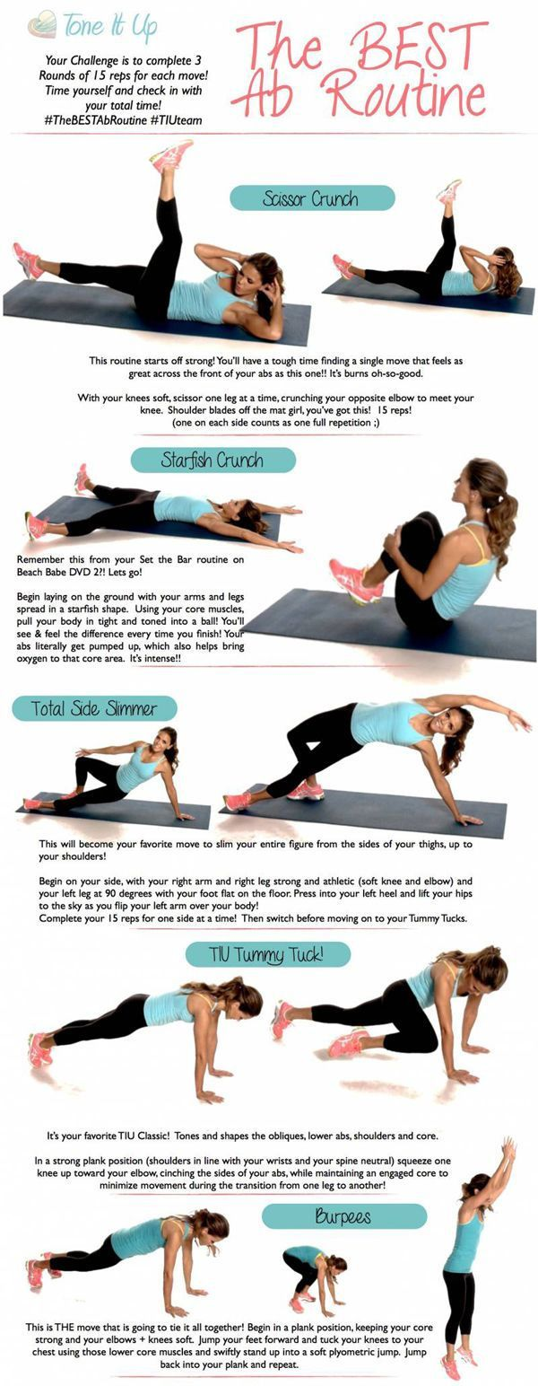 Best Ab Workout // Tone it Up! #pinaholicmyrie