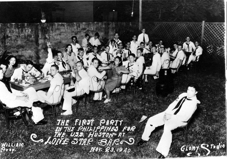Photograph of ship's party for the crew of heavy cruiser USS Houston (CA-30) 23 November 1940. Philippines. [1904  1330]