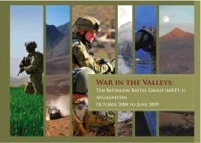 War in the Valleys -- a coffee table book published by Australian soldiers who deployed to Afghanistan as part of MRTF1.